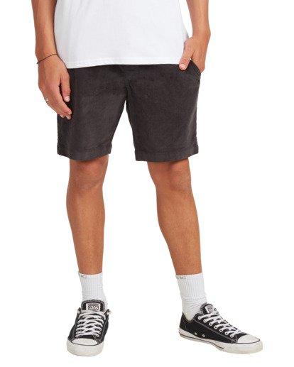 4 Larry Layback Cord Shorts Black UBYWS00102 Billabong