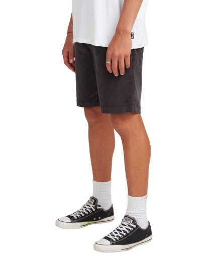5 Larry Layback Cord Shorts Black UBYWS00102 Billabong