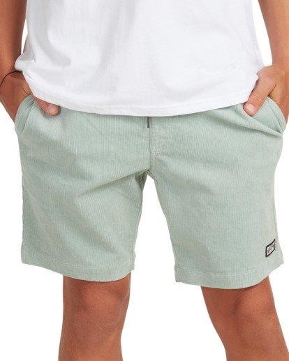 7 Larry Layback Cord Shorts Blue UBYWS00102 Billabong