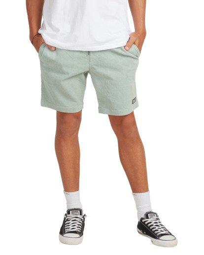 4 Larry Layback Cord Shorts Blue UBYWS00102 Billabong