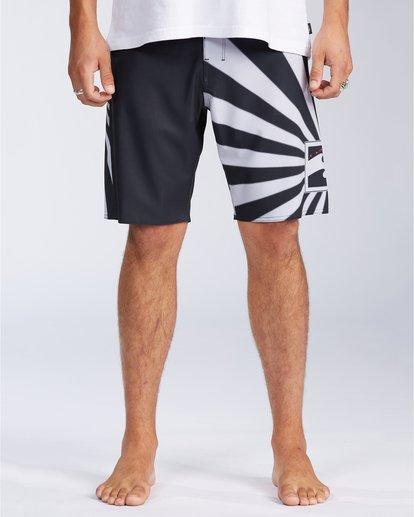 "0 Rising Sun AI D Bah Airlite 18.5"" - Board Shorts for Men Grey V1BS05BIW0 Billabong"