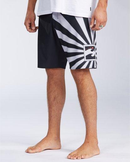 "2 Rising Sun AI D Bah Airlite 18.5"" - Board Shorts for Men Grey V1BS05BIW0 Billabong"