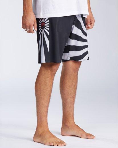 "3 Rising Sun AI D Bah Airlite 18.5"" - Board Shorts for Men Grey V1BS05BIW0 Billabong"