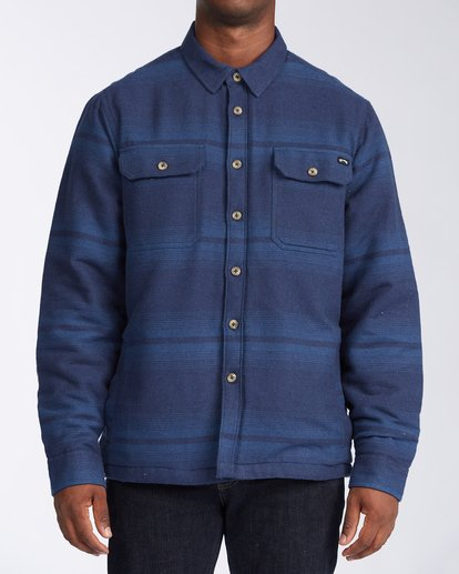 0 Coastline - Sherpa Jacket for Men Blue V1JK04BIW0 Billabong