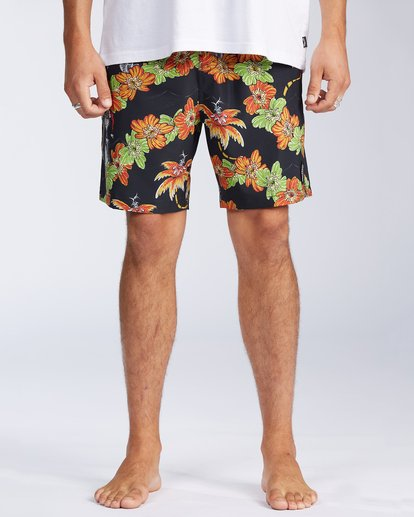 "0 Grinch Aloha Layback 17"" - Board Shorts for Men Schwarz V1LB03BIW0 Billabong"