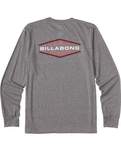 4 Walled - T-shirt manches longues pour Homme Gris V1LS02BIW0 Billabong