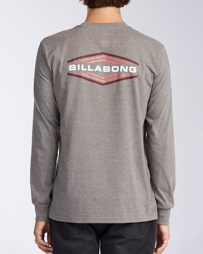1 Walled - T-shirt manches longues pour Homme Gris V1LS02BIW0 Billabong