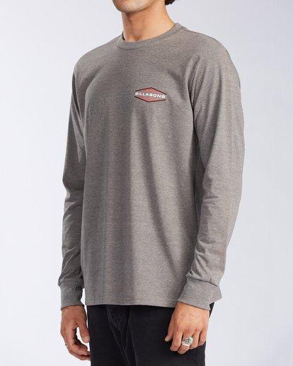 2 Walled - T-shirt manches longues pour Homme Gris V1LS02BIW0 Billabong