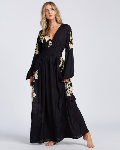 2 Night Bloom - Vestido largo para Mujer Negro V3DR02BIMU Billabong