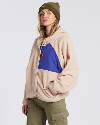 3 Tofino Snap Front - Chaqueta polar para Mujer  V3FL04BIMU Billabong