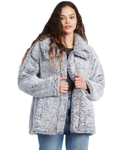 6 Cozy Days - Polarfleece-Jacke für Frauen Grau V3WA01BIW0 Billabong