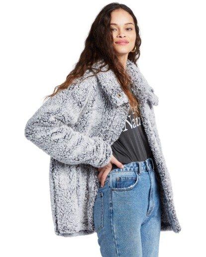8 Cozy Days - Polarfleece-Jacke für Frauen Grau V3WA01BIW0 Billabong