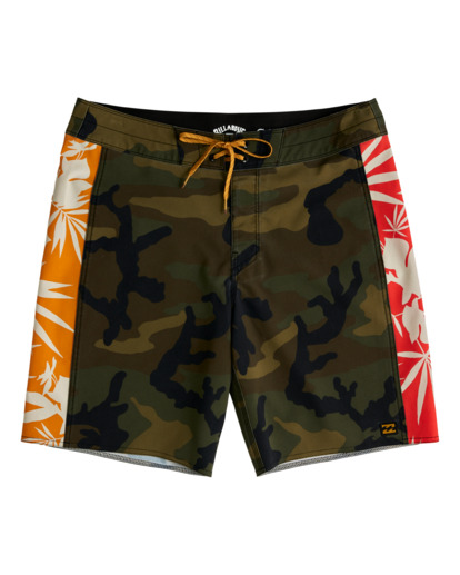 "0 D Bah Pro 19"" - Recycled Board Shorts for Men Camo W1BS39BIP1 Billabong"