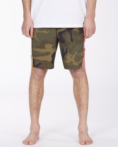 "2 D Bah Pro 19"" - Recycled Board Shorts for Men Camo W1BS39BIP1 Billabong"