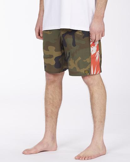 "3 D Bah Pro 19"" - Recycled Board Shorts for Men Camo W1BS39BIP1 Billabong"