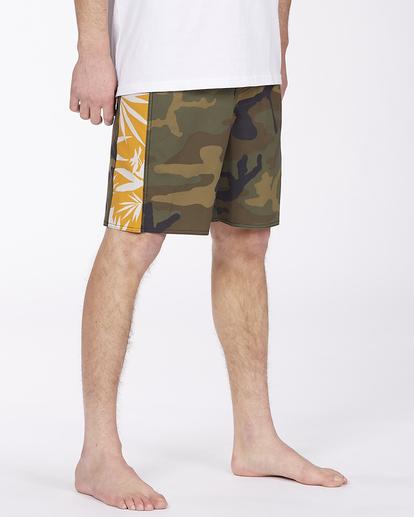 "4 D Bah Pro 19"" - Recycled Board Shorts for Men Camo W1BS39BIP1 Billabong"