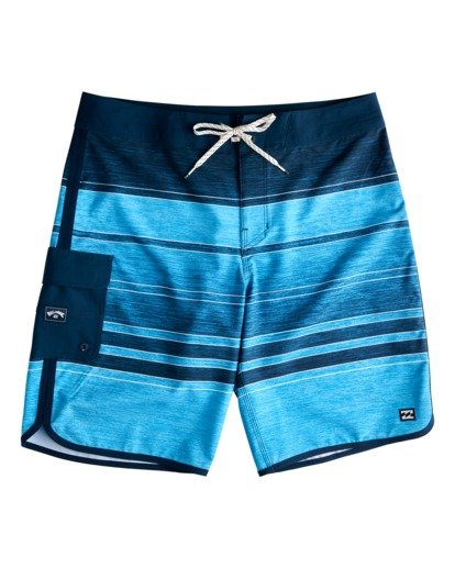 """0 73 Stripe Pro 19"""" - Board Shorts for Men Blue W1BS43BIP1 Billabong"""