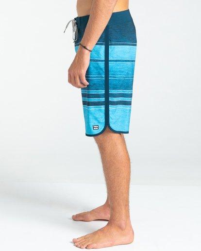 """3 73 Stripe Pro 19"""" - Board Shorts for Men Blue W1BS43BIP1 Billabong"""