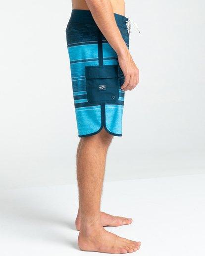 """4 73 Stripe Pro 19"""" - Board Shorts for Men Blue W1BS43BIP1 Billabong"""