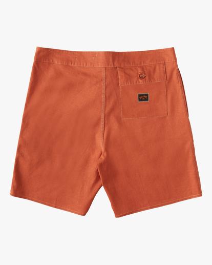 "1 Adventure Division Surftrek Hemp 17"" - Recycled Board Shorts for Men Orange W1BS56BIP1 Billabong"