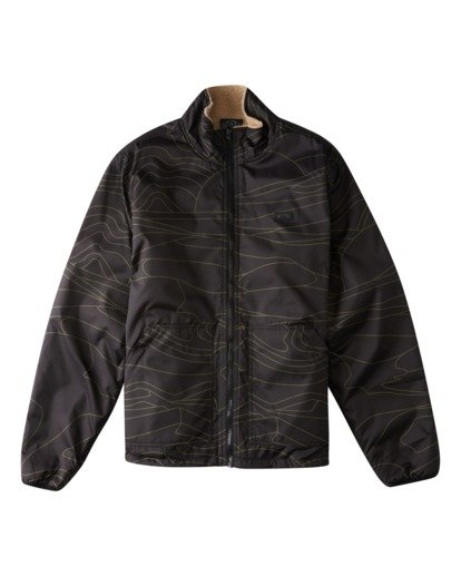 4 Adventure Division Switchback Dunes - Reversible Ripstop and Sherpa Jacket for Men Black W1JK09BIP1 Billabong