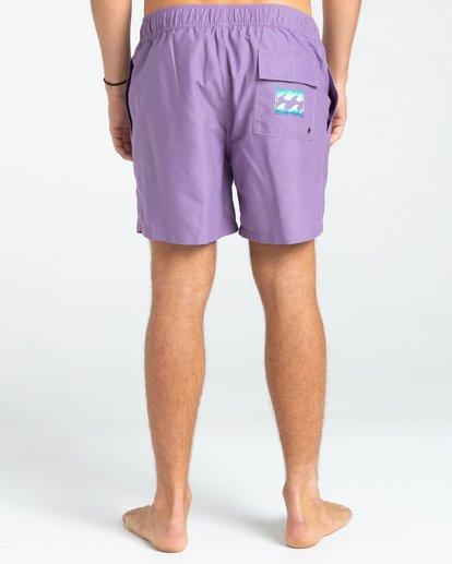 "1 All Day Heritage Layback 16"" - Swim Shorts for Men Purple W1LB13BIP1 Billabong"