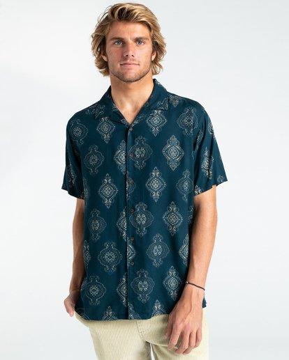 0 Sunday Vacay - Short Sleeve Shirt for Men Blue W1SH01BIP1 Billabong