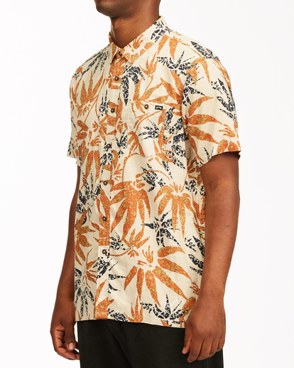1 Adventure Division Kern Hemp - Short Sleeve Shirt for Men Beige W1SH08BIP1 Billabong