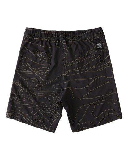 "2 Adventure Division Surftrek Perf Dune Lines 18"" - Elasticated Shorts for Men Black W1WK52BIP1 Billabong"