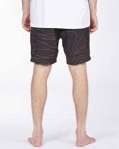 "6 Adventure Division Surftrek Perf Dune Lines 18"" - Elasticated Shorts for Men Black W1WK52BIP1 Billabong"