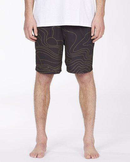 "3 Adventure Division Surftrek Perf Dune Lines 18"" - Elasticated Shorts for Men Black W1WK52BIP1 Billabong"