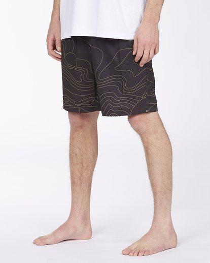 "4 Adventure Division Surftrek Perf Dune Lines 18"" - Elasticated Shorts for Men Black W1WK52BIP1 Billabong"