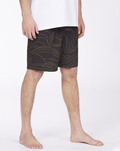 "5 Adventure Division Surftrek Perf Dune Lines 18"" - Elasticated Shorts for Men Black W1WK52BIP1 Billabong"