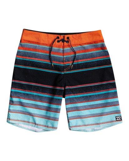 "0 All Day Stripes 16"" - Board Shorts for Boys Blue W2BS14BIP1 Billabong"