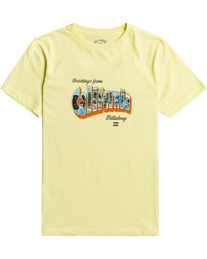 0 Greetings - Camiseta para Chicos Amarillo W2SS50BIP1 Billabong