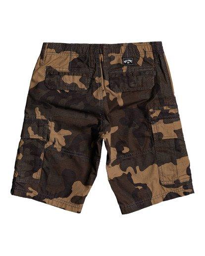 """1 Scheme 17"""" - Cargo Shorts for Boys Camo W2WK18BIP1 Billabong"""