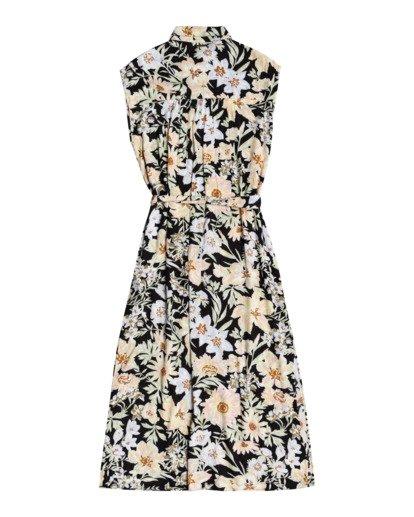 3 Little Flirt - Buttoned Dress for Women Black W3DR03BIP1 Billabong