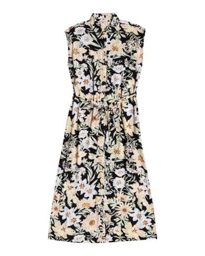 2 Little Flirt - Buttoned Dress for Women Black W3DR03BIP1 Billabong
