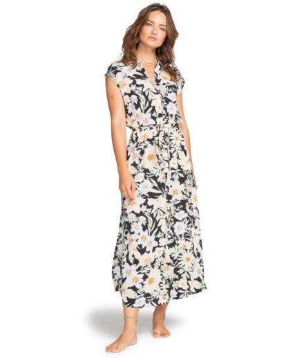 0 Little Flirt - Buttoned Dress for Women Black W3DR03BIP1 Billabong