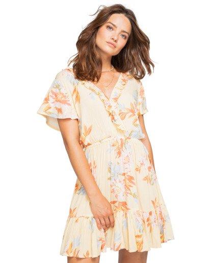 1 First Sight - Vestido con diseño vaporoso para Mujer Amarillo W3DR15BIP1 Billabong