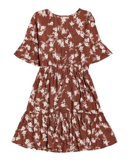 2 Love Game - Plunge Neck Dress for Women Brown W3DR23BIP1 Billabong