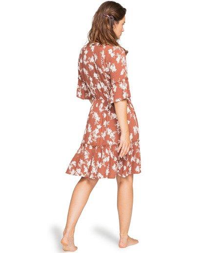 1 Love Game - Plunge Neck Dress for Women Brown W3DR23BIP1 Billabong