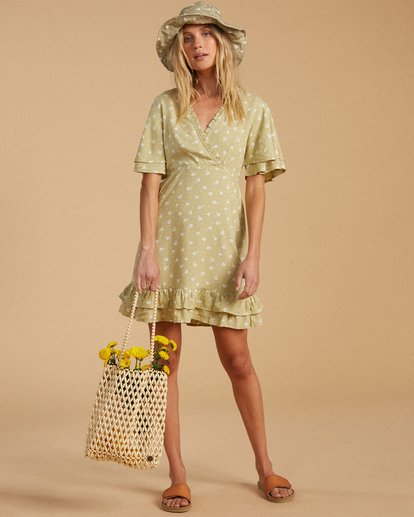 4 Salty Blonde In Bloom - Mini Dress for Women Green W3DR34BIP1 Billabong