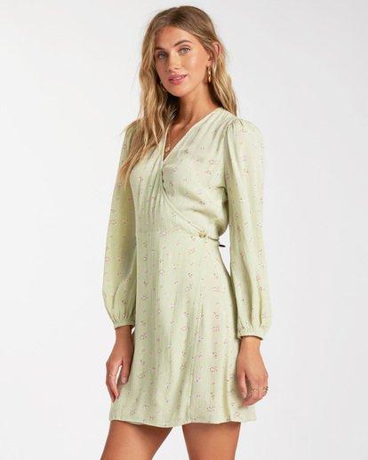 2 Lotta Love - Mini-Wickelkleid für Frauen Grün W3DR36BIP1 Billabong