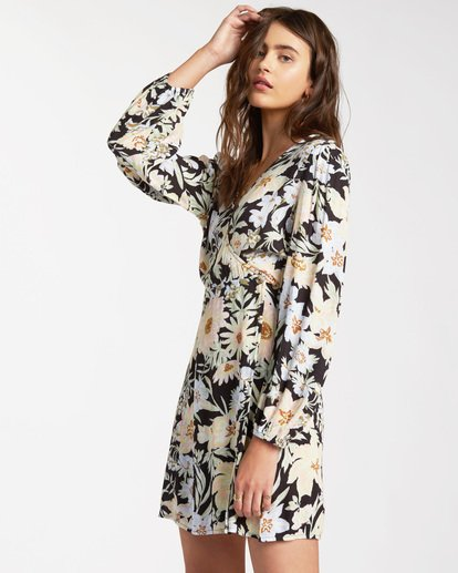 1 Lotta Love - Mini Wrap Dress for Women Black W3DR36BIP1 Billabong
