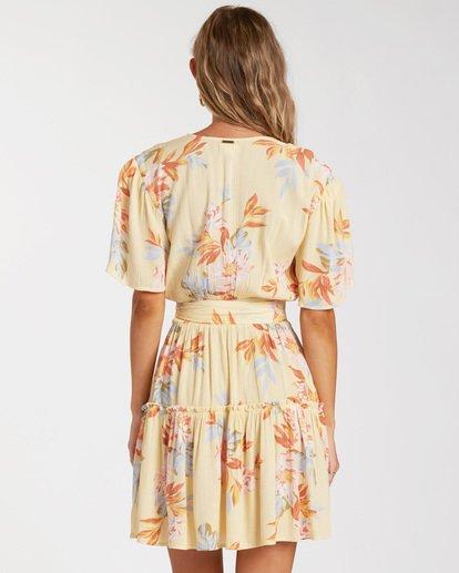 4 One And Only - Mini Vestido para Mujer Amarillo W3DR39BIP1 Billabong