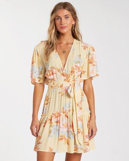 2 One And Only - Mini Vestido para Mujer Amarillo W3DR39BIP1 Billabong