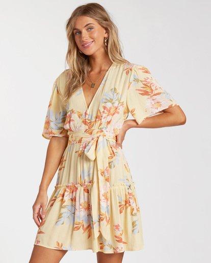 3 One And Only - Mini Vestido para Mujer Amarillo W3DR39BIP1 Billabong