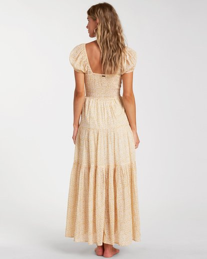 3 Sunrise - Vestido largo para Mujer Amarillo W3DR41BIP1 Billabong