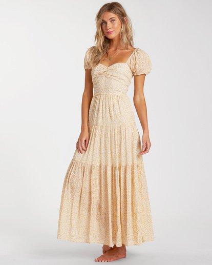 1 Sunrise - Vestido largo para Mujer Amarillo W3DR41BIP1 Billabong